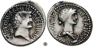 Antony and Cleopatra on coins