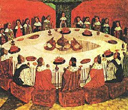 Botticelli, King Arthur and the Knights of the Round Table