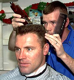 Howie Long and his son