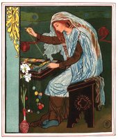 Howard Pyle, The Lady of Shalott Weaving