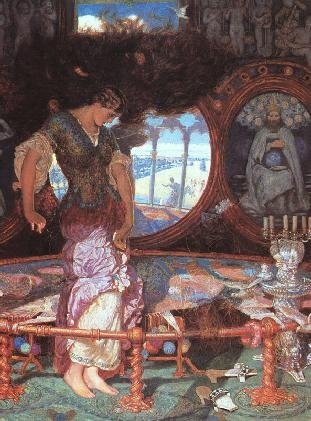 enjoying  quot the lady of shalott quot  by alfred tennysonwilliam holman hunt  the lady of shalott