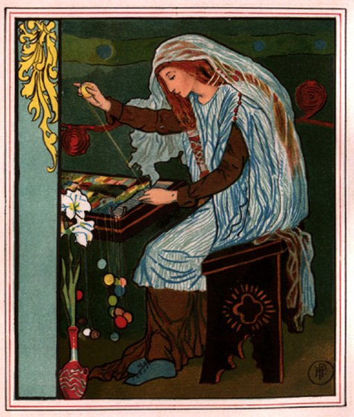 enjoying  quot the lady of shalott quot  by alfred tennysonhoward pyle  the lady of shalott weaving