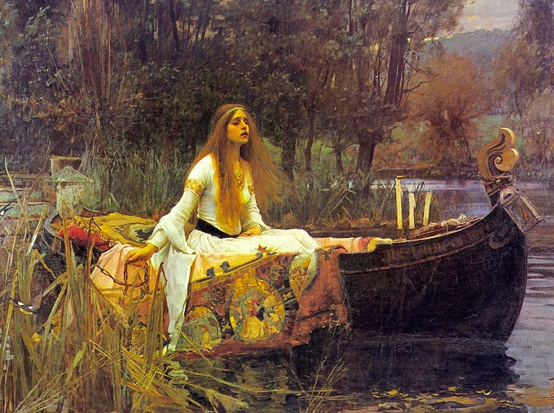 Lady of Shalott painting king arthur lancelot legend