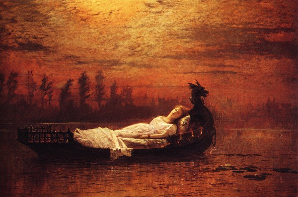enjoying the lady of shalott by alfred tennyson archaic words john atkinson grimshaw the lady of shalott